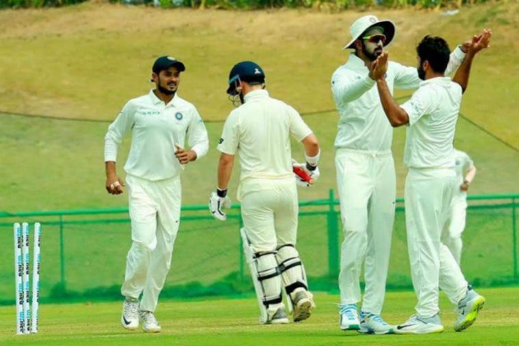 ইন্ডিয়া এ বনাম ইংল্যান্ড লায়ান্স, বেসরকারি টেস্ট: ইন্ডিয়া এ ইংল্যাণ্ড লায়ন্সকে ইনিংস এবং ৬৮ রানে হারাল 1