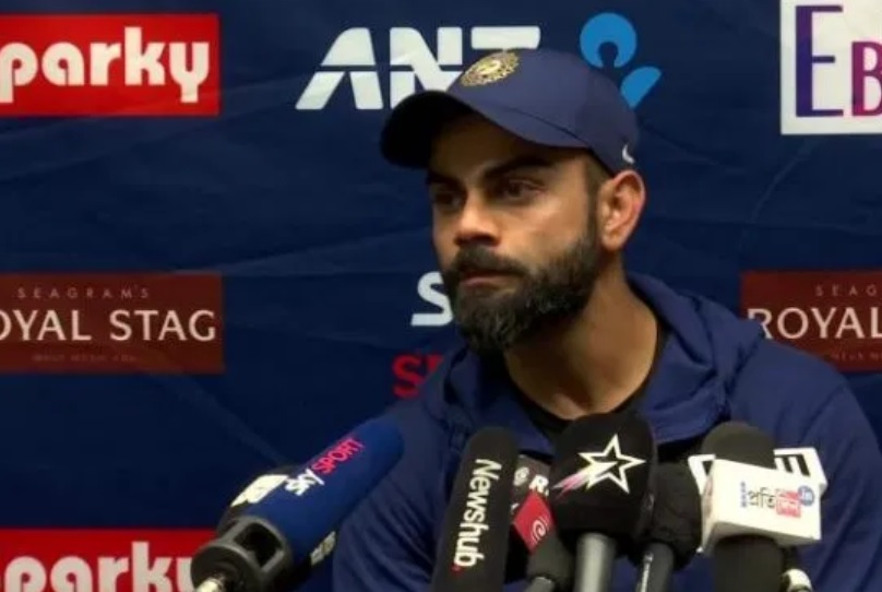 "IND vs NZ: দর্শককে বলেছিলেন shut the f*ck up"" , এখন প্রশ্ন করায় ক্ষুব্ধ বিরাট করলেন সাংবাদিককে অপমান 3"